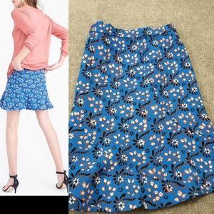 NWT J CREW A-Line Flutter Mini Skirt Sz 12